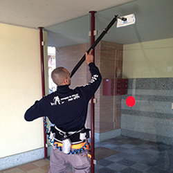 indoor window cleaning system