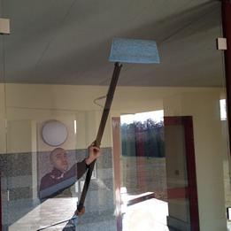 indoor window cleaning