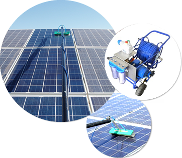 Solar panel cleaning professional equipment