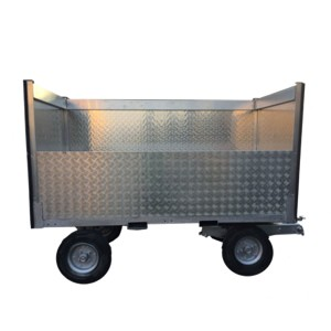 Trailer with panels