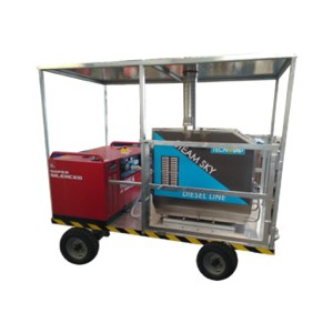 Trailer with steam generator